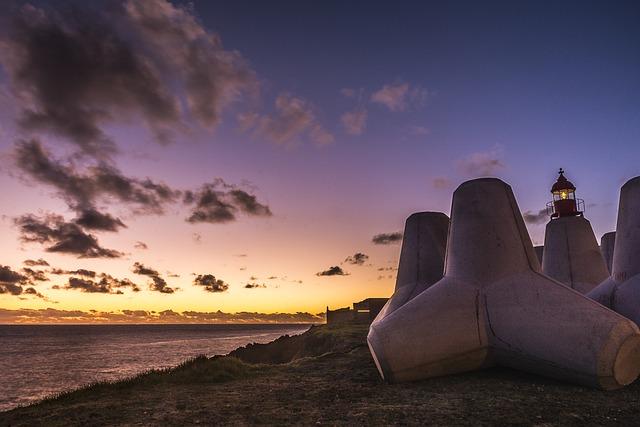 Sunset, Sky, Widescreen, Dawn, Landscape, Lighthouse