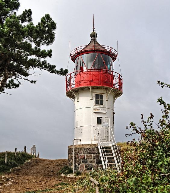 Lighthouse, Hiddensee, Baltic Sea, Building, Summer