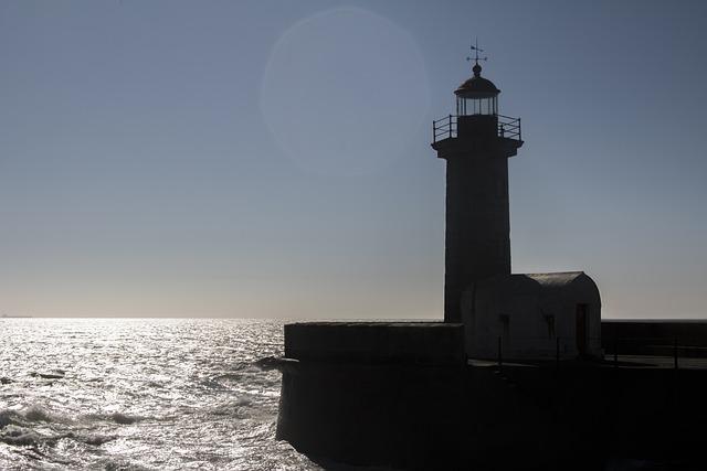 Lighthouse, Portugal, Porto, Summer, Travel, Sea