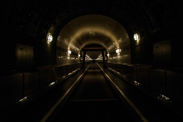 Hamburg, Old Elbe Tunnel, Elbe Tunnel, Light, Lighting