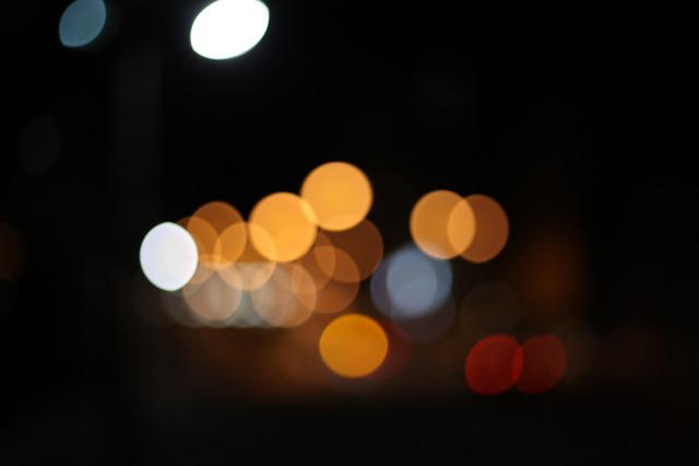 Bokeh, Light Mens Wool, Light, Night View, Lighting