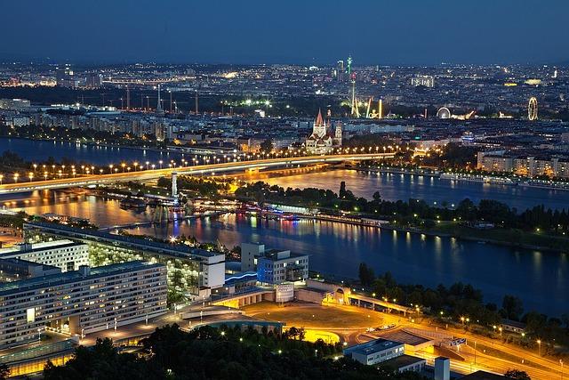 Vienna, Evening, Night, Abendstimmung, Lighting