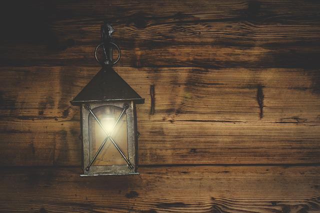Lantern, Wooden Wall, Rusztikal, Lighting, Atmospheric