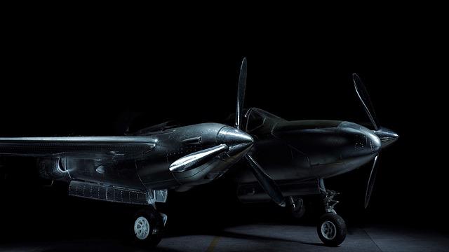 P38, Lightning, Aircraft, Model, Light Painting