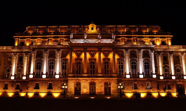 Building, Architecture, Lights, City, Budapest