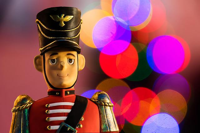 Christmas, Nutcracker, Figure, Holzfigur, Lights