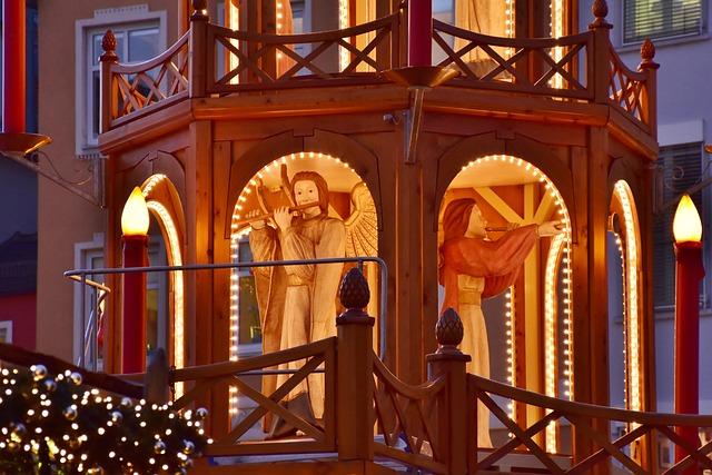 Pyramid, Christmas Pyramid, Lights, Christmas Market