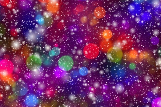 Abstract, Bokeh, Lights, Decoration, Star, Party