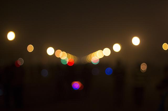 Bokeh, Lights, Night, Focus, Delhi, India