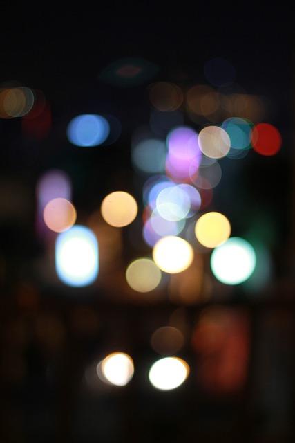 Bokeh, Hill, Lights