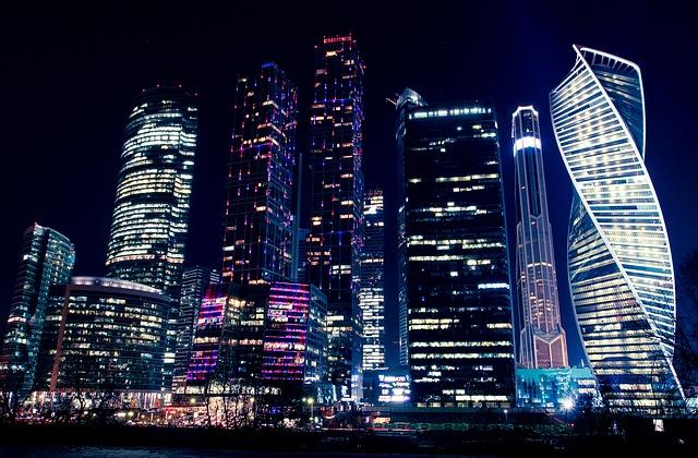 Night, Lights, Night Lights, Night City, Moscow