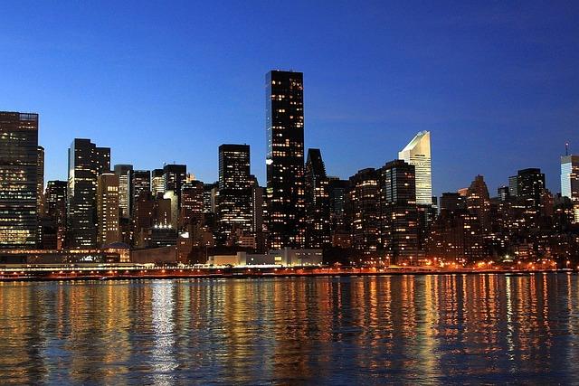 New York, New York City, City, Skyline, Night, Lights