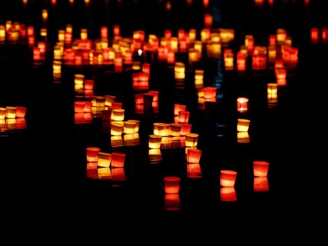 Candles, Lights Serenade, Lights, River, Swim, Romance