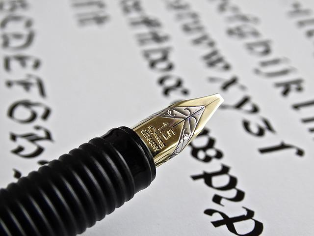 Fountain Pen, Text, Leave, White, Spring, Lightweight