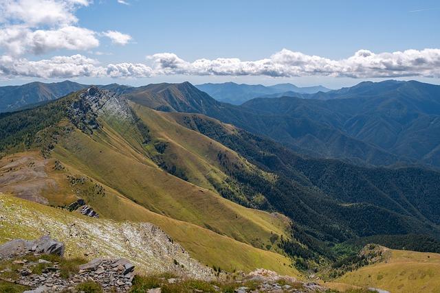 Mountains, Mountain Landscape, Alpine Panorama, Liguria