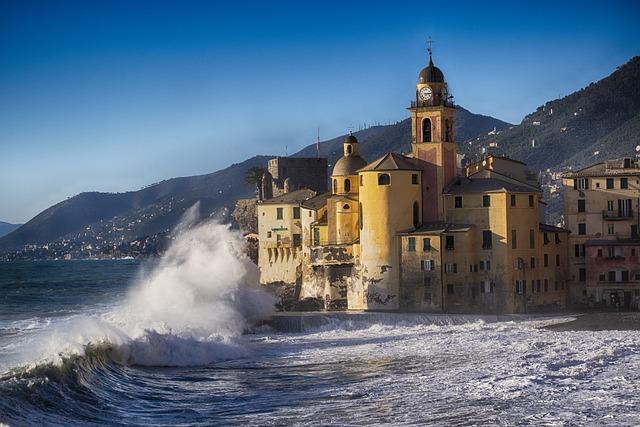 Camogli, Sea Storm, Liguria, Landscape, Genoa, Water