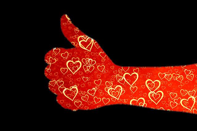 Like, Thumb, Heart, Love, Affection, High, Positive