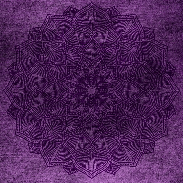 Background, Purple, Mandala, Lilac, Grunge, Vintage