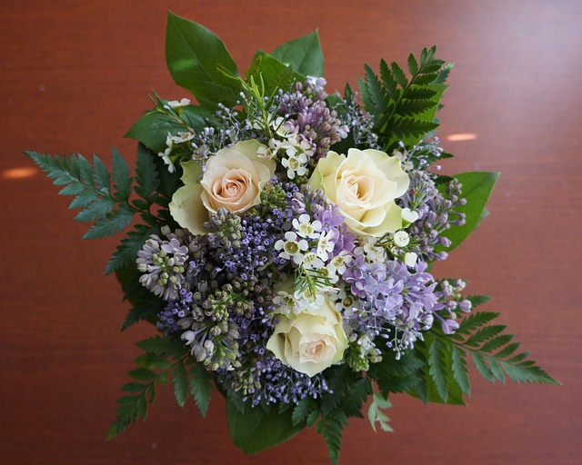 Congratulation, Corsage, Roses, Flowers, Lilac