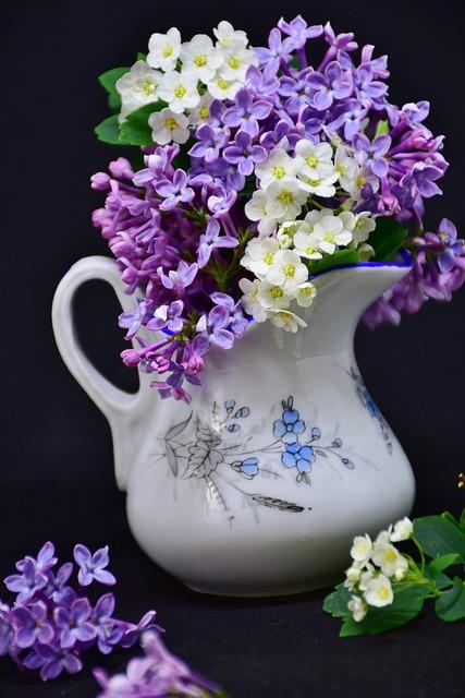Lilac, Flowers, Flower, Floral, Plant, Vase, Bouquet