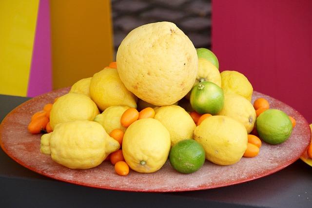 Lemons, Lime, Citrus Fruits, Yellow, Citrus Fruit