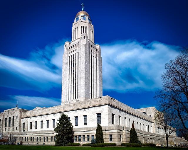 Lincoln, Nebraska, Capitol, Building, Landmark