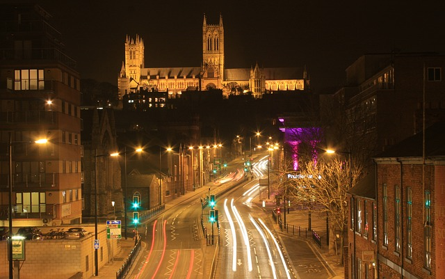 Cathedral, Lincoln, Broadgate Lincoln, Castle Hill