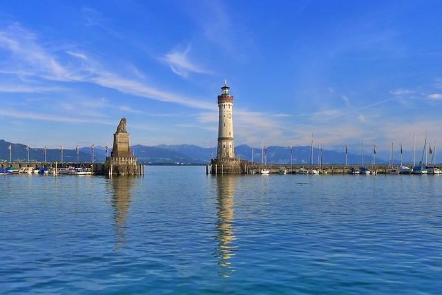 Lindau, Germany, Lake Constance, Lighthouse