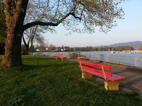 Bank, Rest, Lindau, Seat, Lake Constance, Bavaria