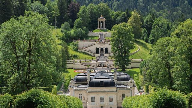 Linderhof Palace, Castle, Schlossgarten, Architecture