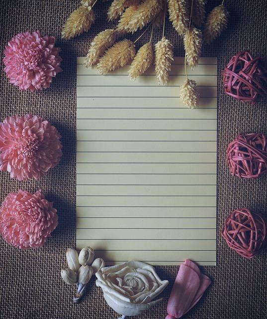 Mock Up, Linen Paper, Flower, Sackcloth, Handmade