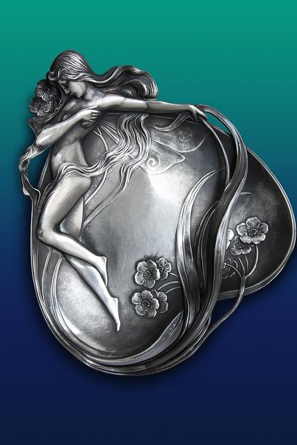 Silver Bowl, Shell, Art Nouveau, Secessionists, Lines