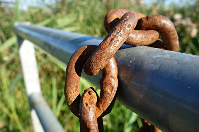 Chain, Link, Iron, Fastening, Secure, Gear, Rust
