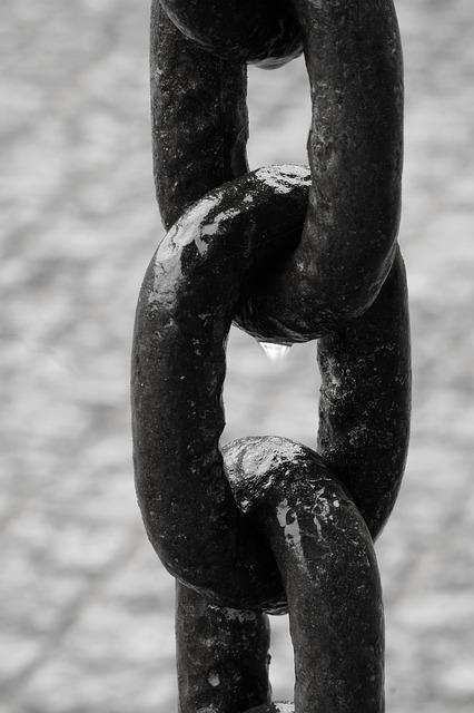 Chain, Links Of The Chain, Iron, Metal, Connection