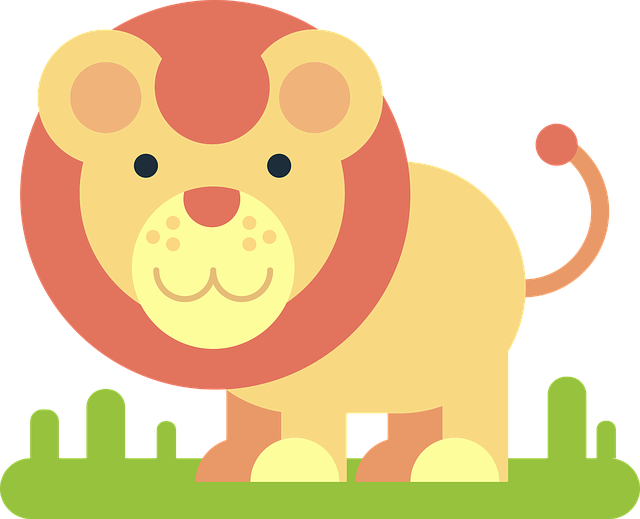 Lion, Animal, Comic Drawing, Simply, Minimalist, Funny
