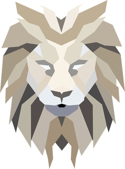 Polygonal, Low Poly, Lion, Feline, Animal