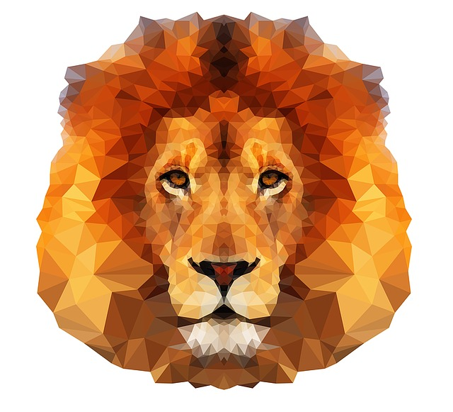 Lion, Animal, Predator, Lion Head, Wild, Geometric