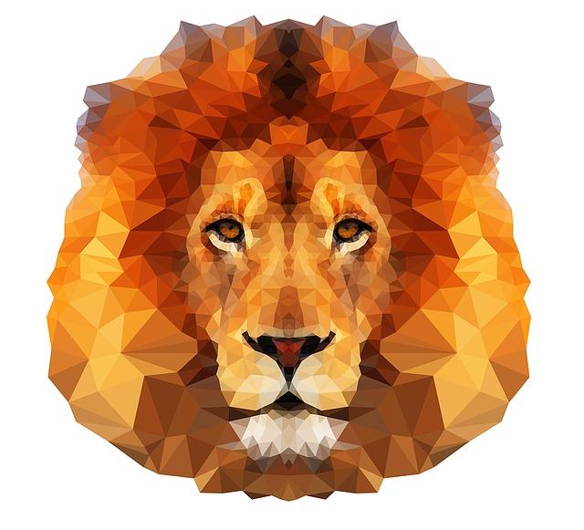 Lion, Animal, Predator, Lion Head, Wild, Geometric
