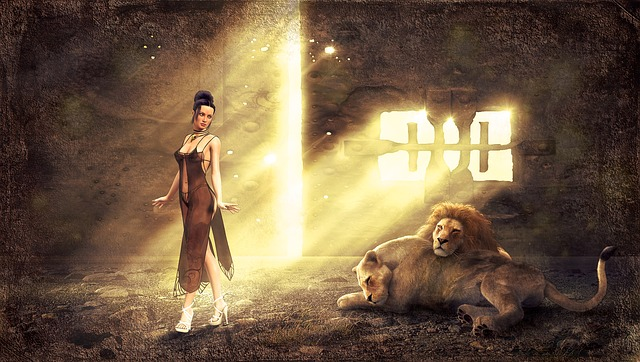 Light, Mood, Woman, Lion, Mysticism, Lighting