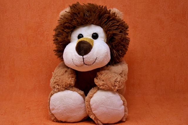 Lion, Soft Toy, Stuffed Animal, Teddy Bear, Toys, Play
