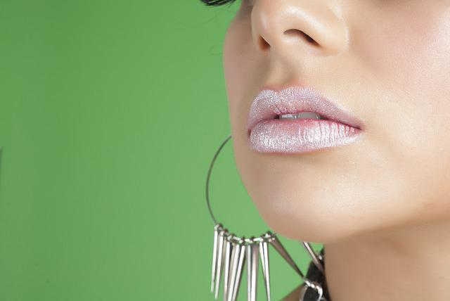 Woman, Lips, Makeup, Model, Earrings, Lip Gloss