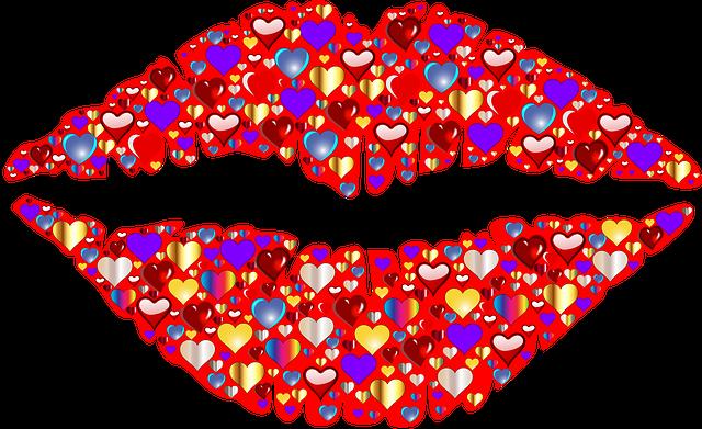 Heart, Lips, Kiss, Romance, Passion, Valentine, Girl