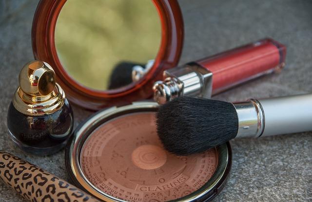 Makeup, Powder, Lipstick, Nail Polish, Poudrier