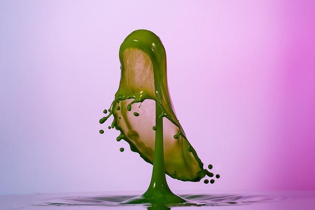 Drip, High Speed, Liquid, Spray, Viscose, Form, Pink