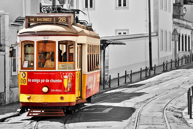 Tram, Alfama, Lisbon, Portugal, Portuguese, Lisboa
