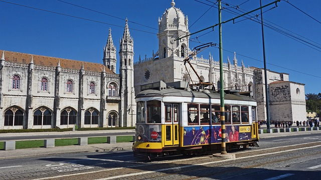 Tram, Lisbon, Travel, Architecture, City, Transport