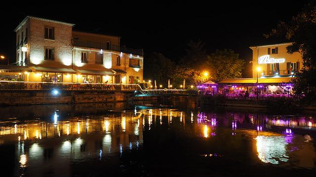 L'isle-sur-la-sorgue, City, France, Provence, At Night