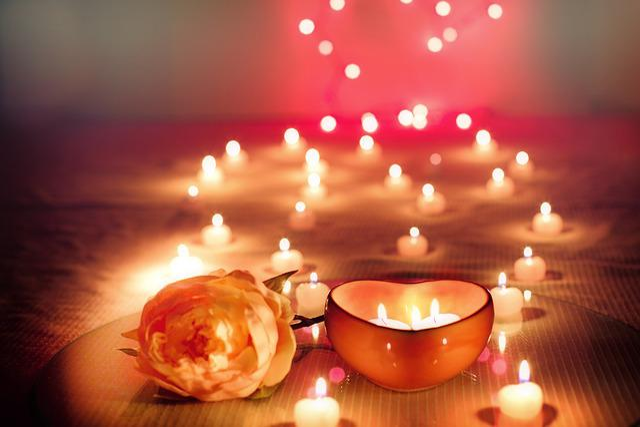 Candles, Valentine, Valentine's Day, Lit Candles, Glow