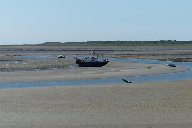 Wad, Dry Fall, Little Boat, Schiermonnikoog
