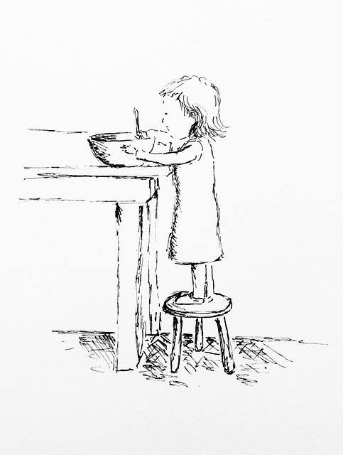 Child, Little Girl, Cooking, Stirring, Preschool, Sweet